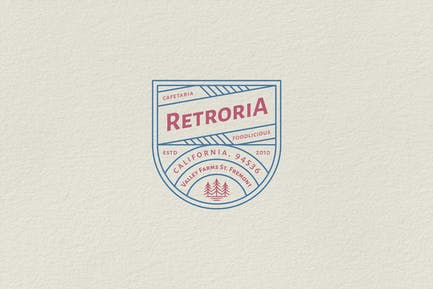 Logo Badge Vintage - Restaurant Retroria