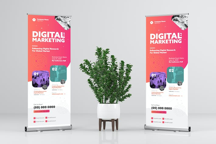 Thumbnail for Digital Marketing / Business Rollup Banner Design