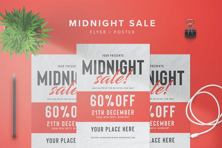 Cover Image For Midnight Sale Flyer