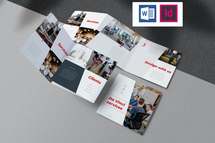 Thumbnail for Business Square Trifold Brochure