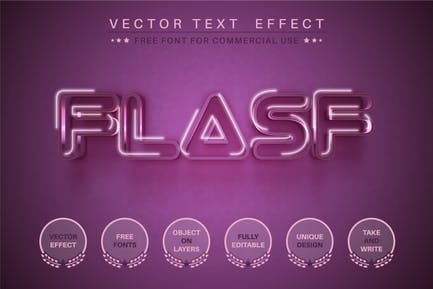 Flash - editable text effect, font style