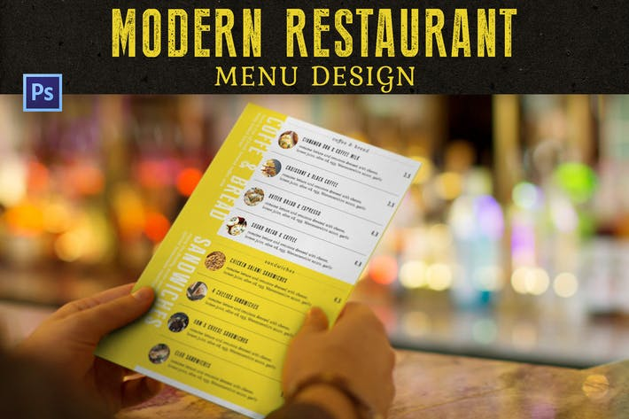 Thumbnail for Modern Restaurant Menu Design