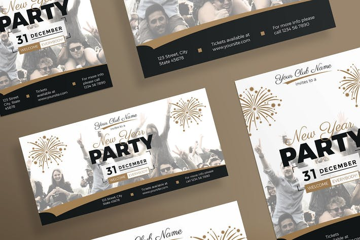 Thumbnail for NewYear Party Flyer and Poster Template