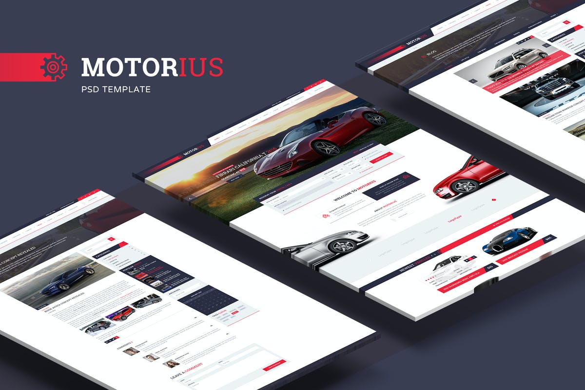Download Motorius — Exclusive Sell/Rent Cars PSD Template by torbara by Unknow
