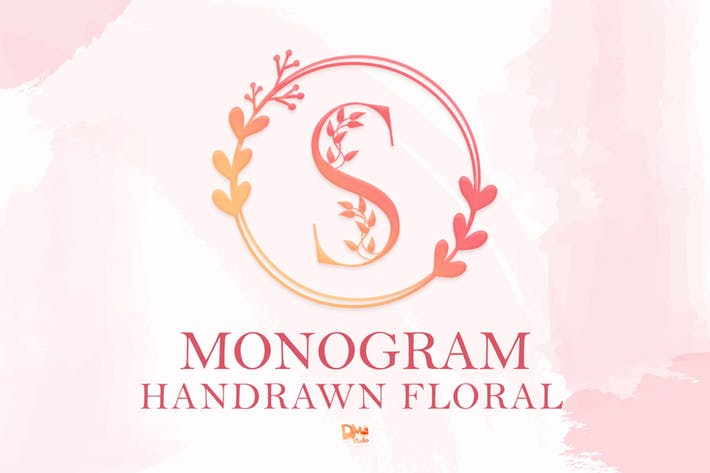 Thumbnail for Monogram Handrawn Floral Font