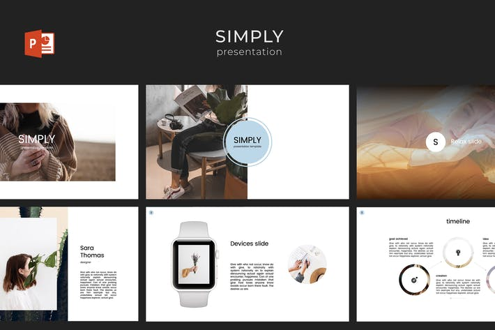 Thumbnail for Simply PowerPoint Template