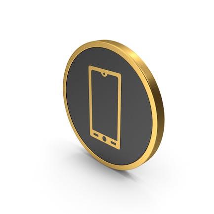 Gold Icon Smart Phone