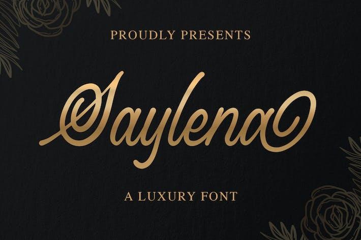 Cover Image For Saylena - Police de script de luxe