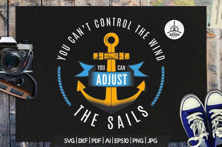 Thumbnail for Retro Nautical Badge, Adventure Logo TShirt Print
