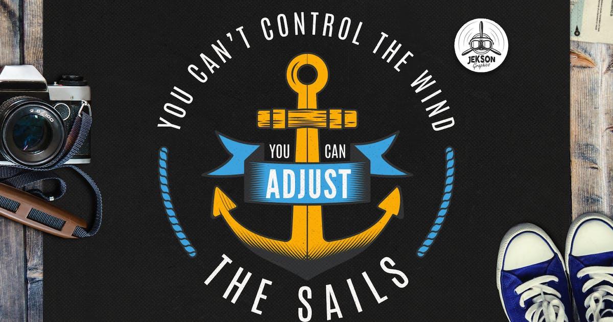 Download Retro Nautical Badge, Adventure Logo TShirt Print by JeksonJS