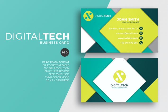 Digital technology business card by eightonesixstudios on envato cover image for digital technology business card reheart Images