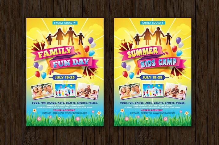 Thumbnail for Dépliant de camp pour enfants journée et été en famille