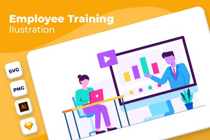 Formación de empleados - Ilustración de incorporación
