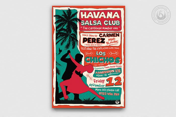 Thumbnail for Salsa Flyer Template V4