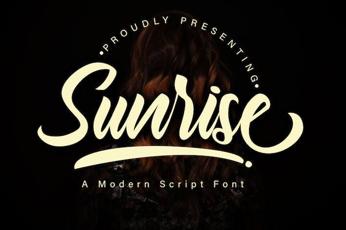 Thumbnail for Sunrise Modern Script Font