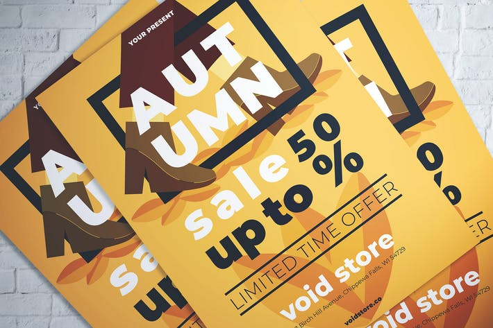 Thumbnail for Autumn Fashion Sale Flyer