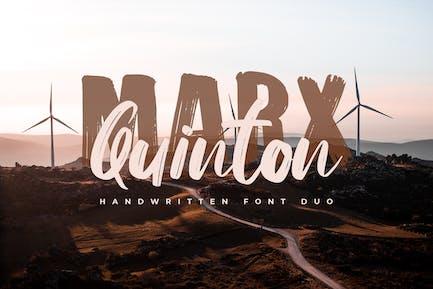 Marx Quinton - Handwritten Font Duo