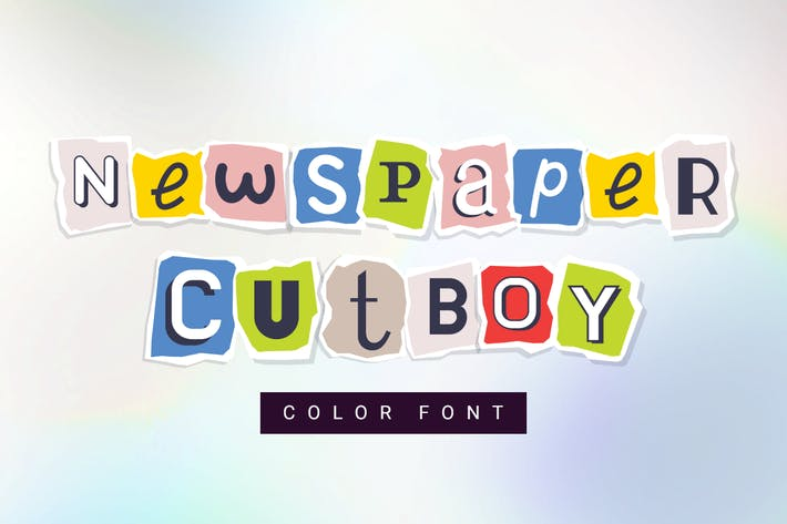 Thumbnail for Newspaper cutboy| font