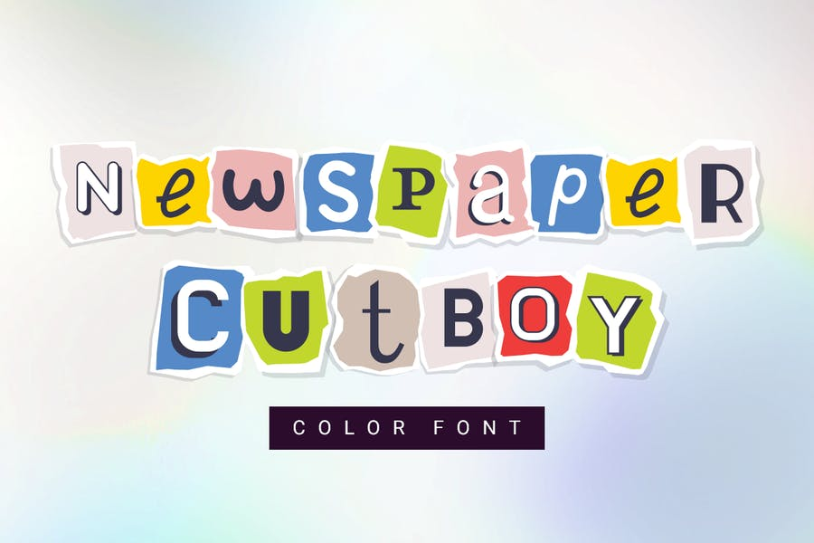 Newspaper cutboy| font