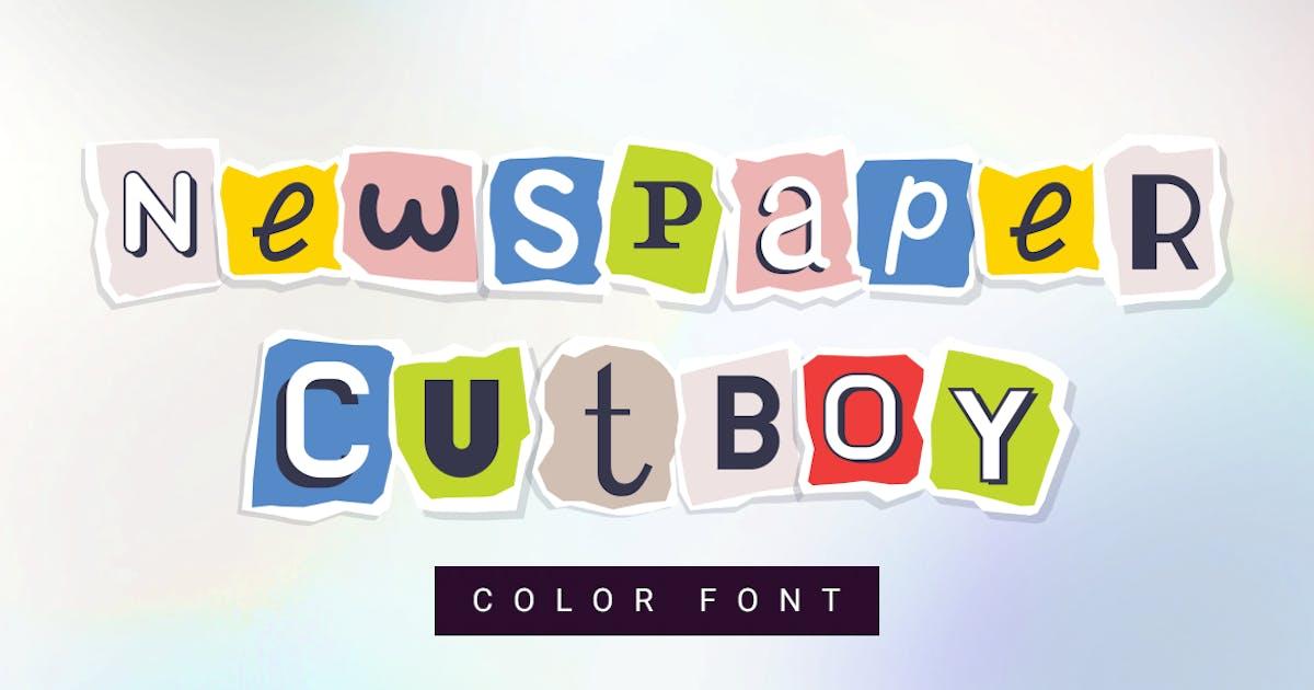 Download Newspaper cutboy  font by wowomnom