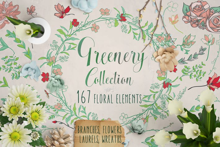 Thumbnail for Greenery Collection: 167 Elements