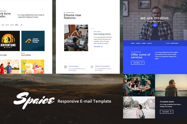 Spaice  Mail - Responsive E-mail Template