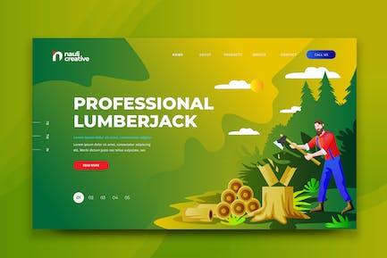 Professional Lumberjack Web PSD and AI Template
