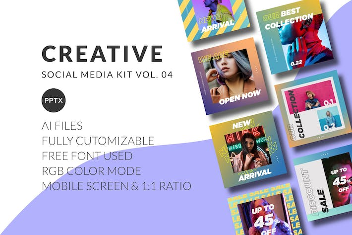 Thumbnail for Creative Social Media Kit Vol. 04