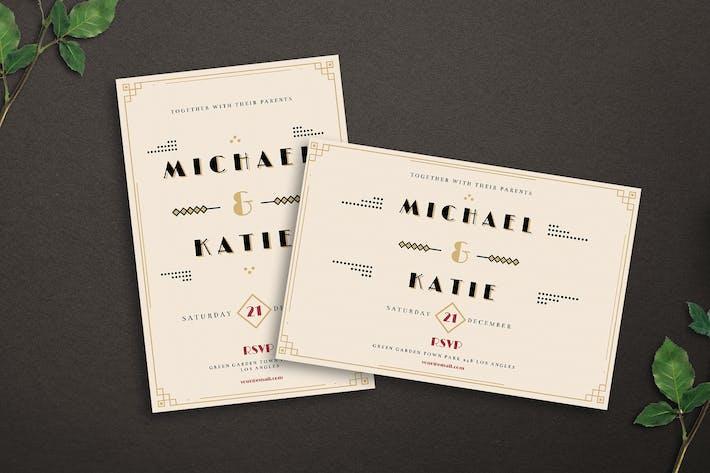 Thumbnail for Art Deco Wedding Invitation