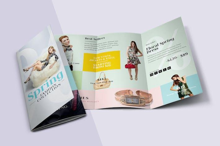 Thumbnail for Fashion Tri-fold Brochure