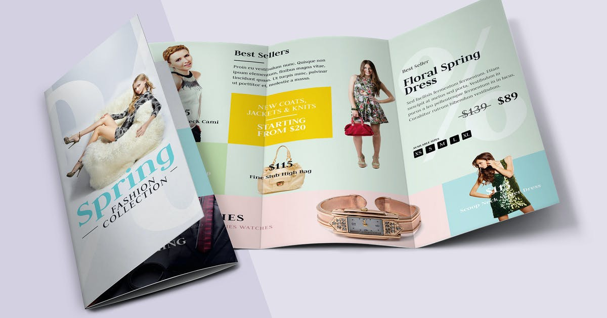 Fashion Tri-fold Brochure by floringheorghe on Envato Elements