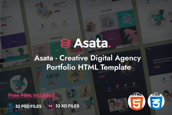 Thumbnail for Asata - Creative Digital Agency Portfolio Template