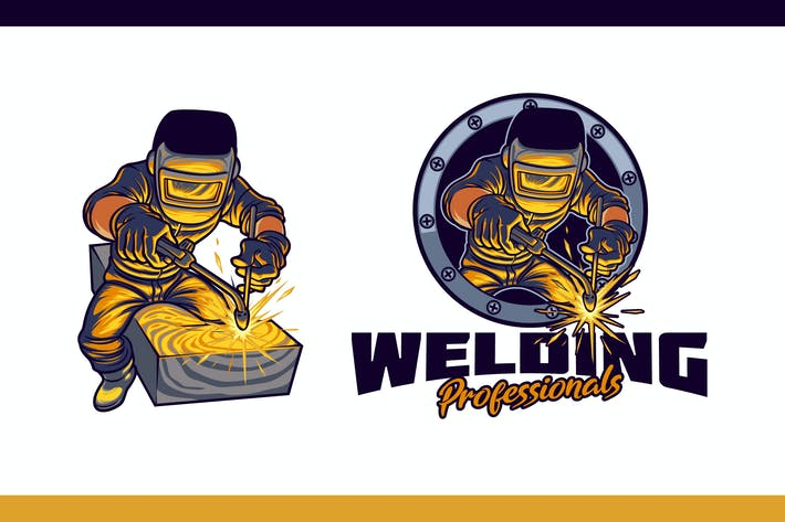 Thumbnail for Professional Welder Mascot Character Logo