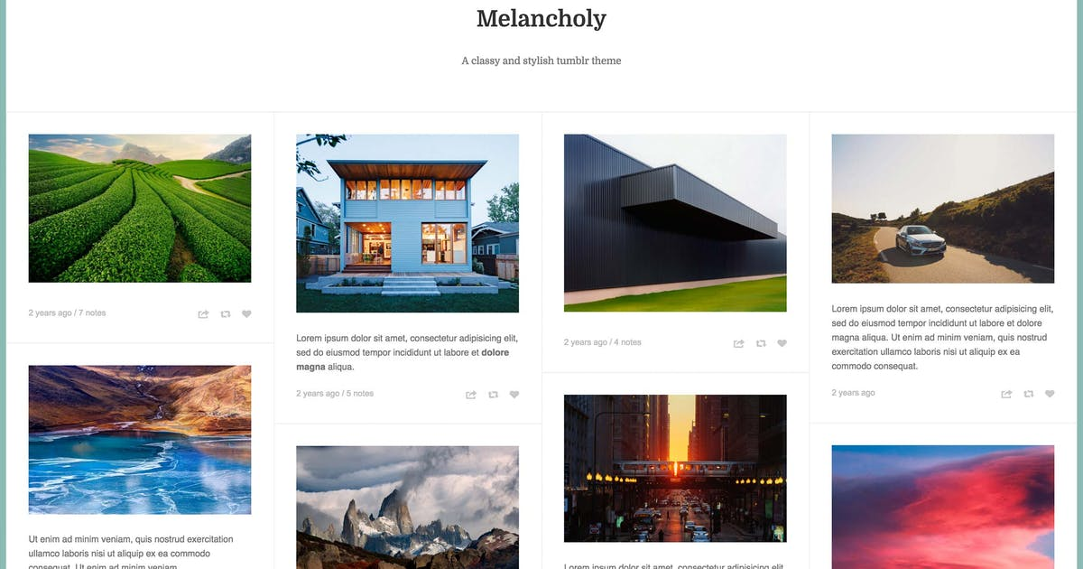 Download Melancholy - Minimalistic Fullscreen Theme by thejenyuan