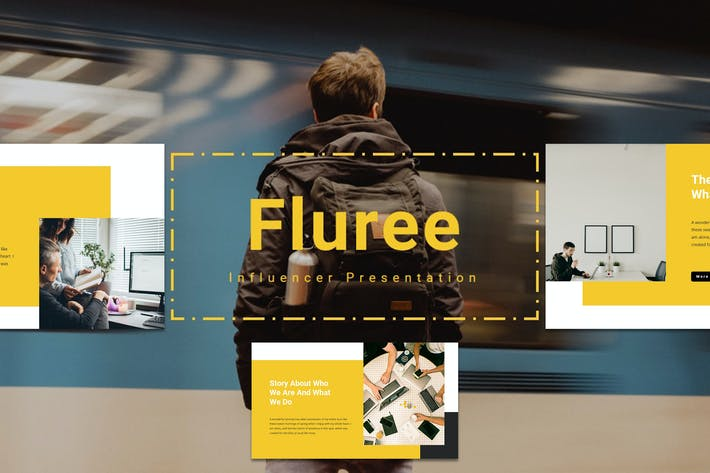 Thumbnail for Флури - Influencer Google Slide Шаблон