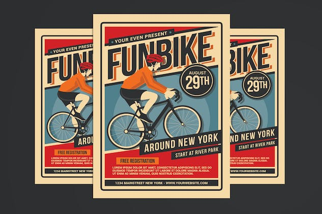 Bicycle Event Flyer