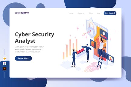 Cyber Security Analyst - Landing Page