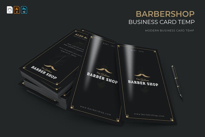 Thumbnail for Barbershop | Business Card