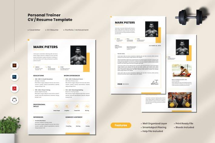 Personal Trainer CV Resume