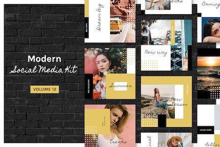 Modern Social Media Kit (Vol. 12)