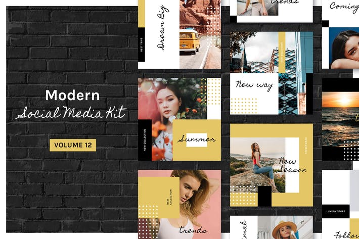 Thumbnail for Modern Social Media Kit (Vol. 12)