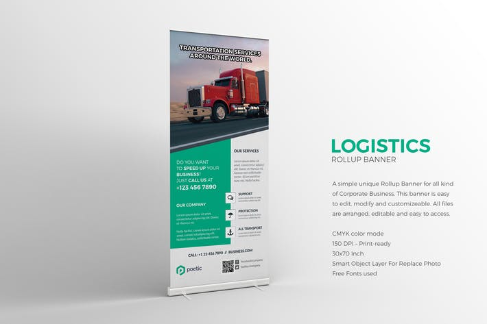 Thumbnail for Logistics Roll-up Banner