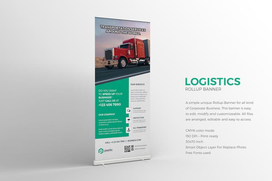 Logistics Roll-up Banner