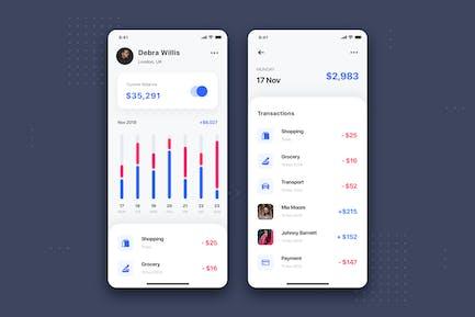 Transaction Mobile UI Template