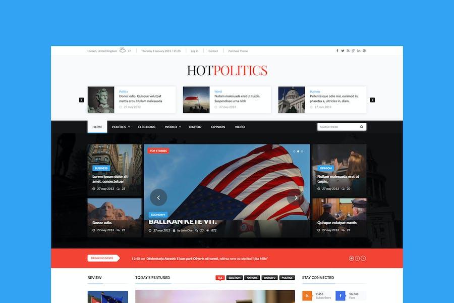 Hotmagazine - News & Magazine HTML Template