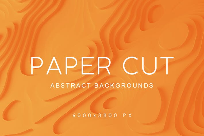 Cover Image For Paper Cut Abstract Backgrounds