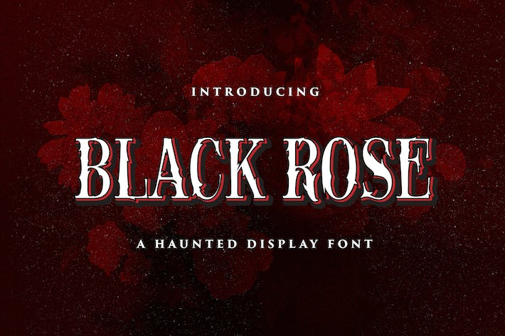 Thumbnail for Black Rose - Haunted Display Font