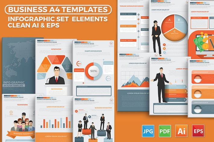 Thumbnail for Business Management Infographics Elements Design