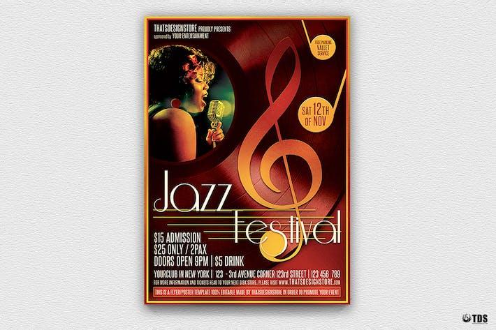 Thumbnail for Jazz Festival Flyer Template V4
