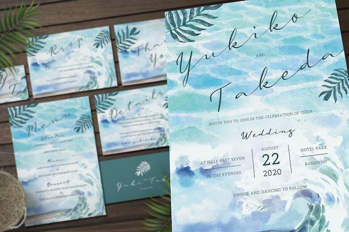 Thumbnail for Beach Wedding Invitation Set